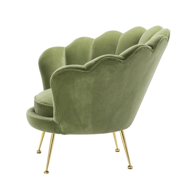 Modern Modern Trapezium Green Shell Shaped Chair For Sale - Image 3 of 8