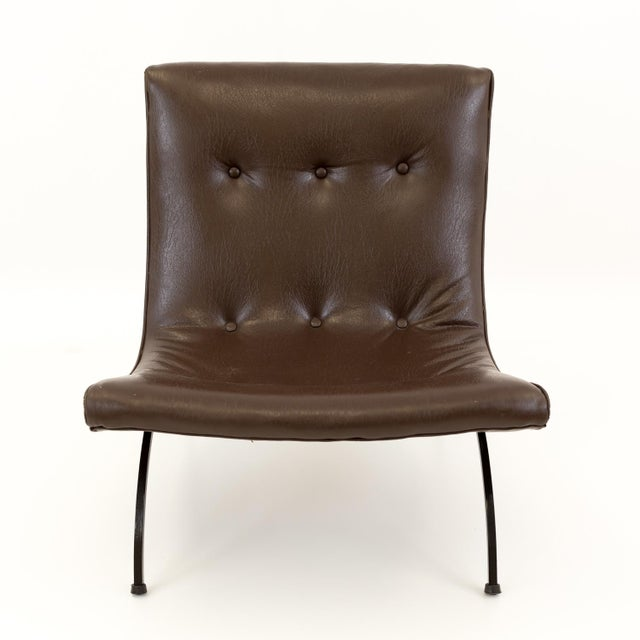 Milo Baughman Milo Baughman Mid Century Scoop Lounge Chairs - a Pair For Sale - Image 4 of 11