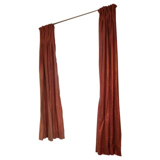 Silk Curtain Panels - Set of 4