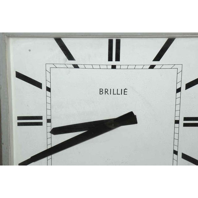 Mid-Century Modern 1960s French Hanging Double Sided Sided Clock For Sale - Image 3 of 3