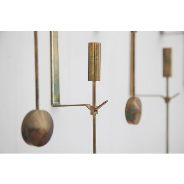 Pendel/Reflex wall candleholders. Pierre Forssell, Skultuna. Sweden, 1950s. Good original vintage condition, patinated...