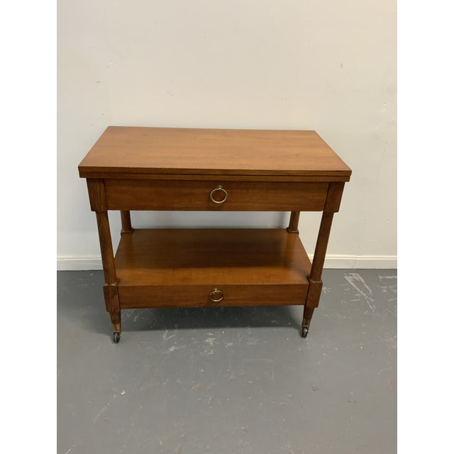 Traditional Henredon Serving Cart For Sale - Image 9 of 9