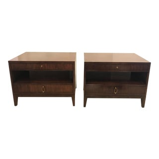 Pair of Barbara Barry Mahogany Nightstands For Sale