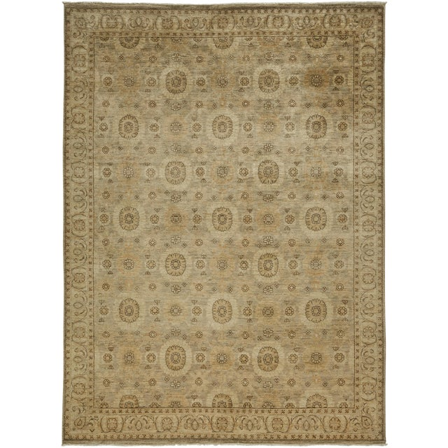 "New Oushak Hand Knotted Area Rug - 6'2"" x 8'6"" - Image 1 of 3"