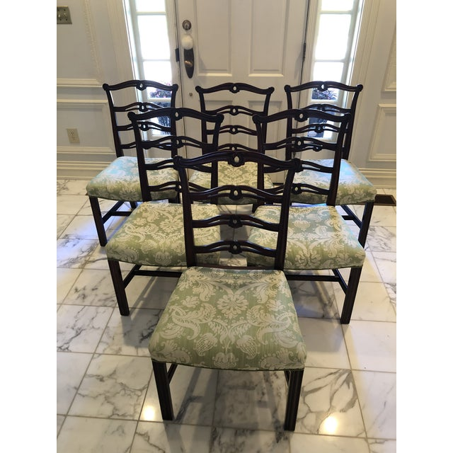 Chippendale Style Ribbon Back Dining Chairs - Set of 6 For Sale - Image 11 of 11