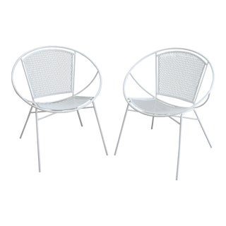 1960s Salterini Hoop Chairs Mid-Century Modern Patio Chairs - a Pair For Sale