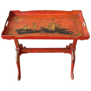 Small Chinoiserie Side Table For Sale