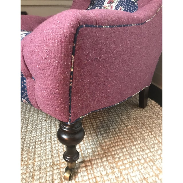 Lee Industries Tufted Upholstered Chair in Custom Tilton Fenwick Fabrics - Image 5 of 6