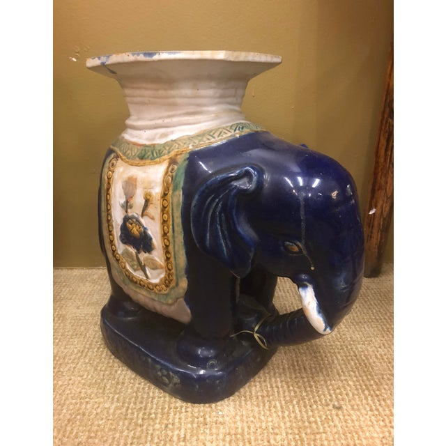 1970s Vintage Chinese Elephant Garden Stool For Sale - Image 5 of 9