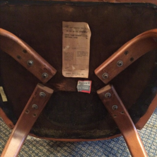 Thonet Mid-Century Burnt Orange Chairs - A Pair - Image 7 of 10