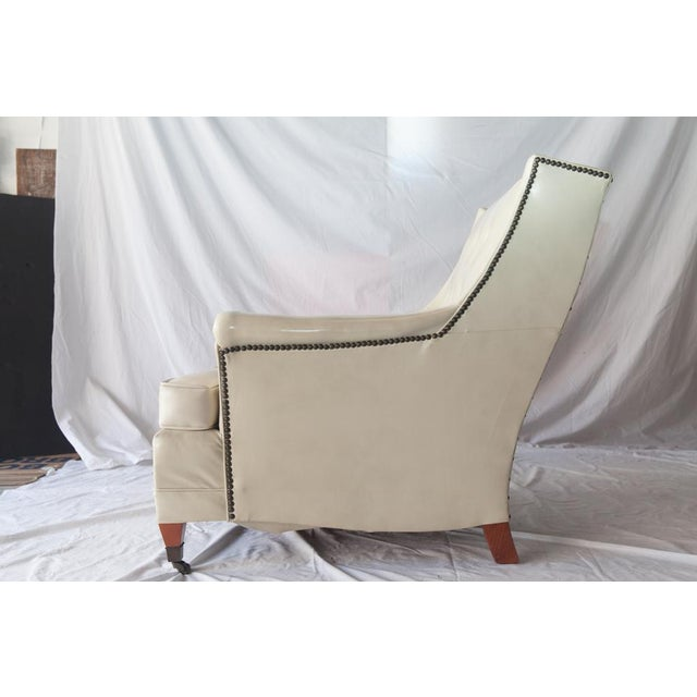 Vintage Tufted Club Chair with Casters For Sale - Image 5 of 8