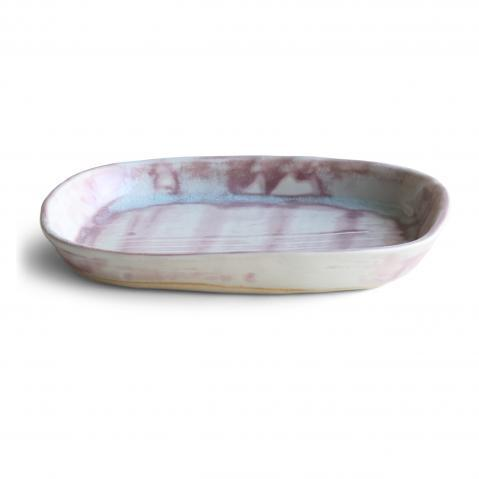 This ceramic decorative tray is great for a contemporary home. The blended neutral tones create a simplistic home decor...