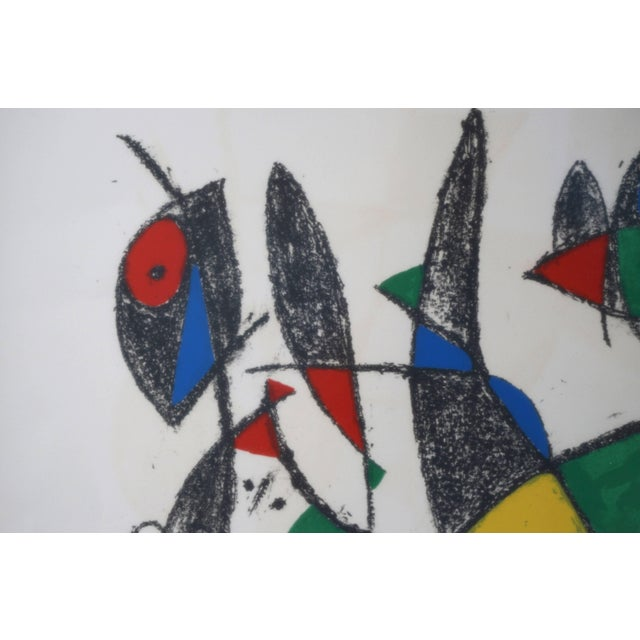 Mid-Century Modern Lithograph by Joan Miro, Circa 1975, Lithographs Ii, Plate 10, Mourlot Paris For Sale - Image 3 of 10