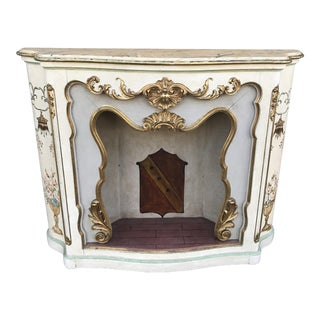 Italian Polychrome Painted Faux-Mantel