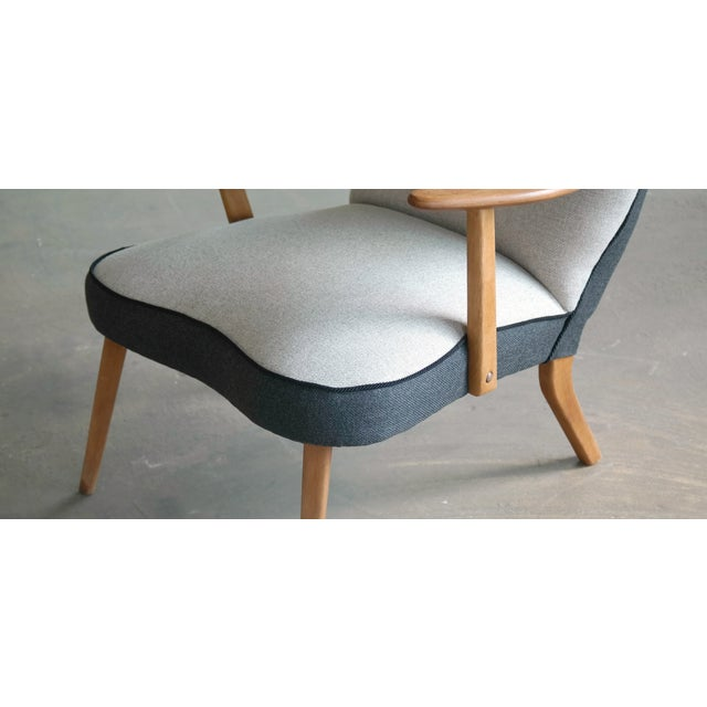 Madsen and Schubel Danish 1950's Lounge Chair Model Pragh With Ottoman by Madsen and Schubell For Sale - Image 4 of 12