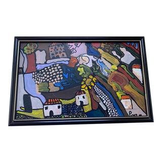 2010 Ecuadorean Impressionist Oil on Board Landscape of San Miguel De Salcedo For Sale