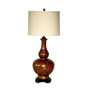 Hollywood Regency Ceramic Glazed Lamp For Sale