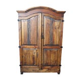 Image of Country Arhaus Old World Pine Armoire Wardrobe For Sale