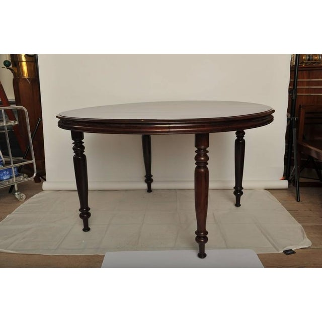 Campaign Late 19th Century British Campaign Rosewood Round Dining Table For Sale - Image 3 of 9