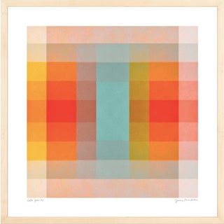 """""""Color Space 40"""" Contemporary Minimalist Geometric Print by Jessica Poundstone, Framed For Sale"""