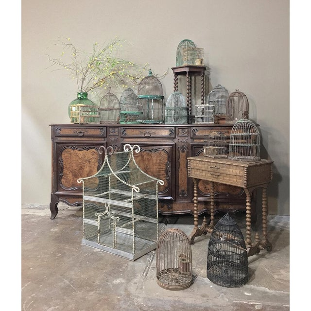 Early 19th Century 19th Century French Painted Wire Pagoda Birdcage For Sale - Image 5 of 13