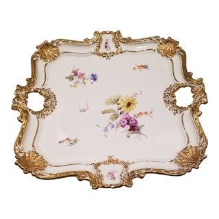 Antique Meissen Porcelain Tray For Sale