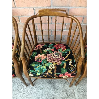 1960s Vintage Drexel Faux Bamboo Club Chairs- Set of 4 Preview