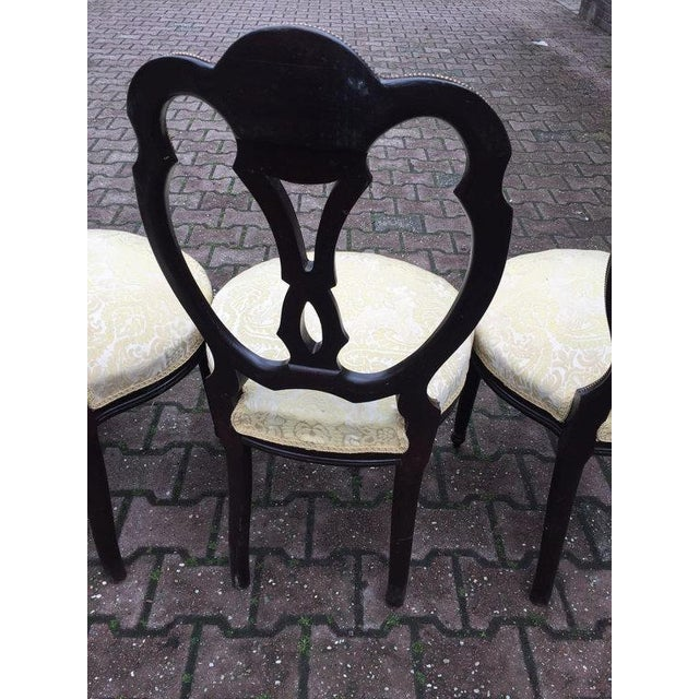 Louis XVI Dining Room Chair - Set of 4 For Sale - Image 4 of 5