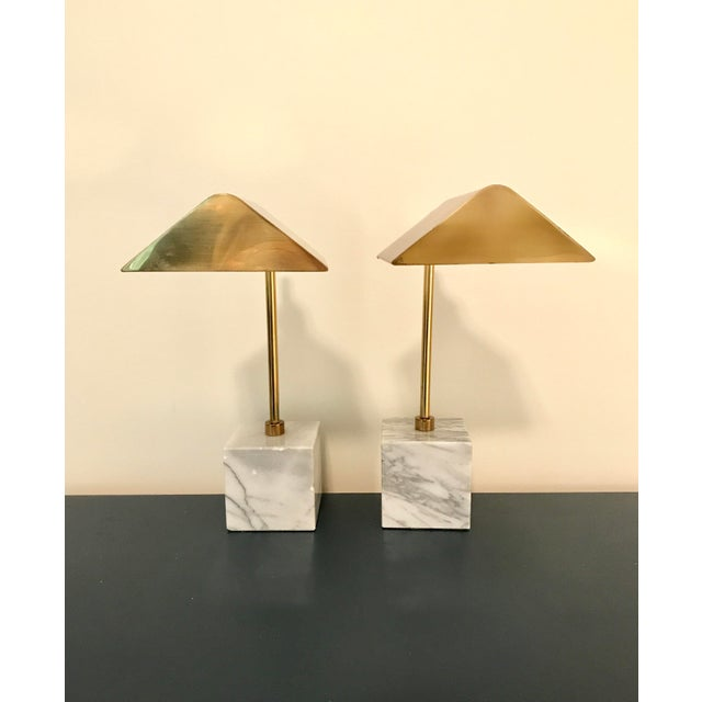 Koch & Lowy Mid-Century Brass Table Lamps- a Pair - Image 4 of 11