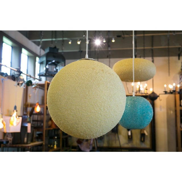 1960s Modern Textured Globe-Shaped Light For Sale - Image 5 of 6