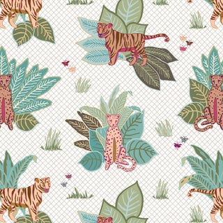 House of Harris Baxter Wallpaper, 30 Yards, Multi For Sale