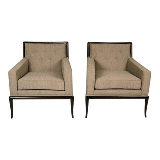 Pair of Classic Lounge Chairs by t.h. Robsjohn-Gibbings For Sale