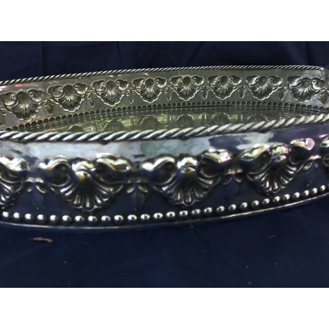 Castilian Imports Silverplate Tray For Sale - Image 5 of 8