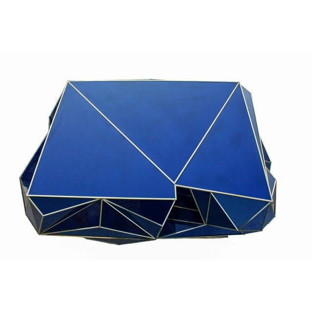 Ploytope Coffee Table in Cobalt by MarGian Studio For Sale - Image 4 of 10