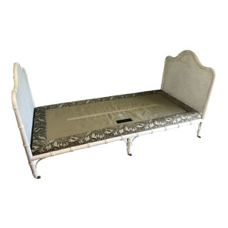 Cane and Faux Bamboo Daybed For Sale