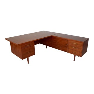 1950's vintage Monteverdi Young L-Shaped Desk For Sale
