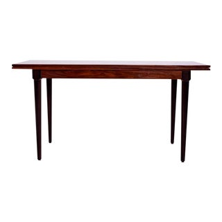 Rosewood & Macassar Console Dining Table For Sale