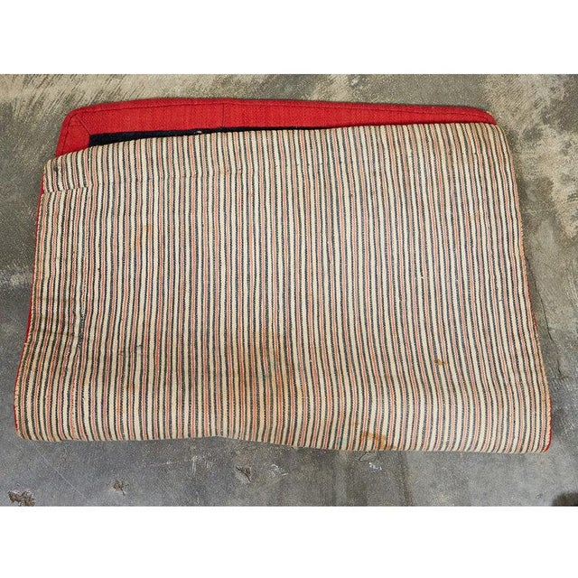 This hand woven wool saddle cover features ornate traditional Tibetan motifs in a vibrant palette. Originally woven as a...