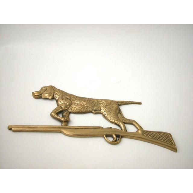 Brass Dog & Rifle Wall Hanging - Image 4 of 8