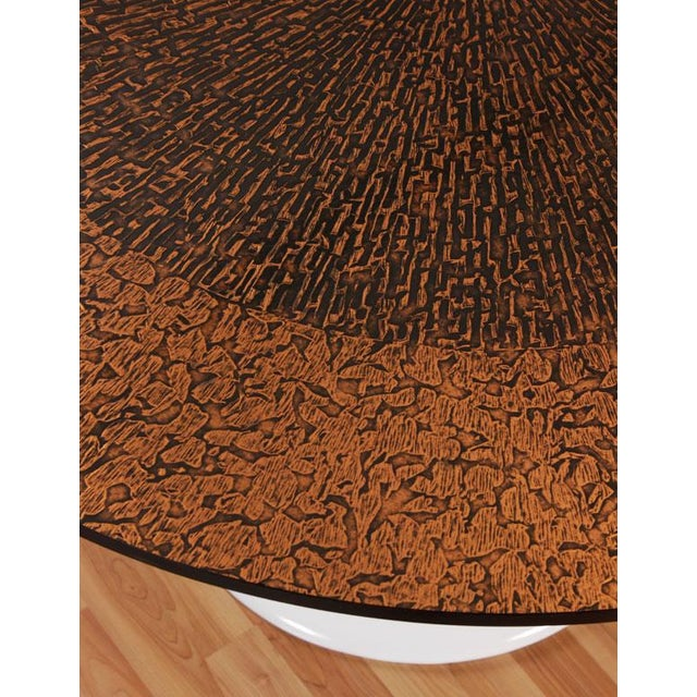 Restored Tulip Table With Copper and Black Mosaic - Image 4 of 7