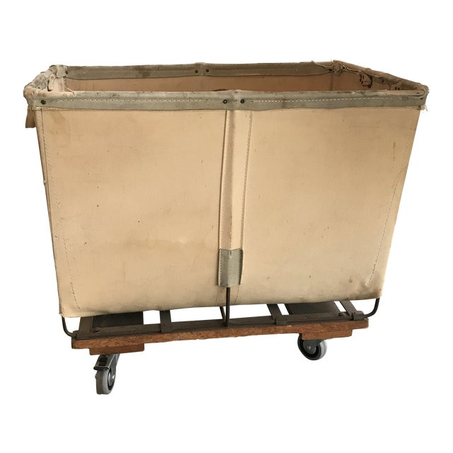 Vintage Petite Dandux Laundry Cart For Sale