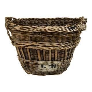 Antique French Champagne Market Basket