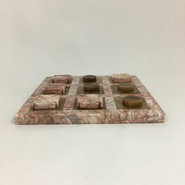 Abstract Pink Stone Tic Tac Toe Game Board For Sale - Image 3 of 9