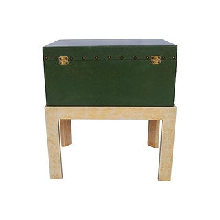 Vintage Green Chest on Stand by Hall Preview