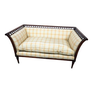 Vintage Mid Century Louis XVI Style Settee For Sale