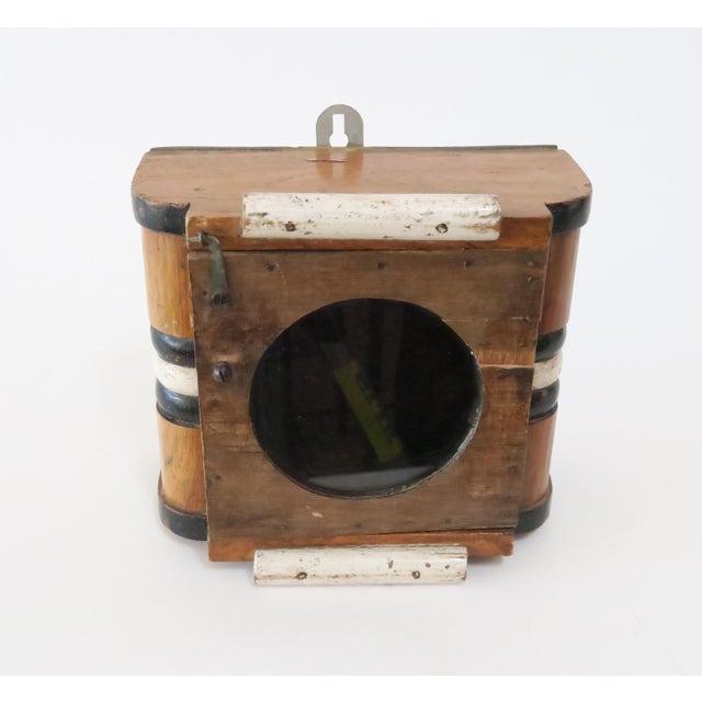 Vintage Wood Wall Mount Hanging Display Case - Image 3 of 7