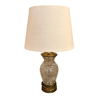 1970s Waterford Crystal Table Lamp For Sale