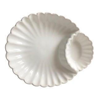 Ceramic Shell Form Serving Dish- Loucarte, Portugal For Sale