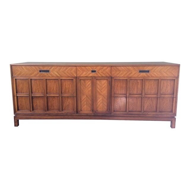 Vintage Herringbone Thomasville Credenza/Dresser For Sale