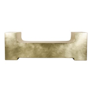 U Shape Bench - Brass For Sale
